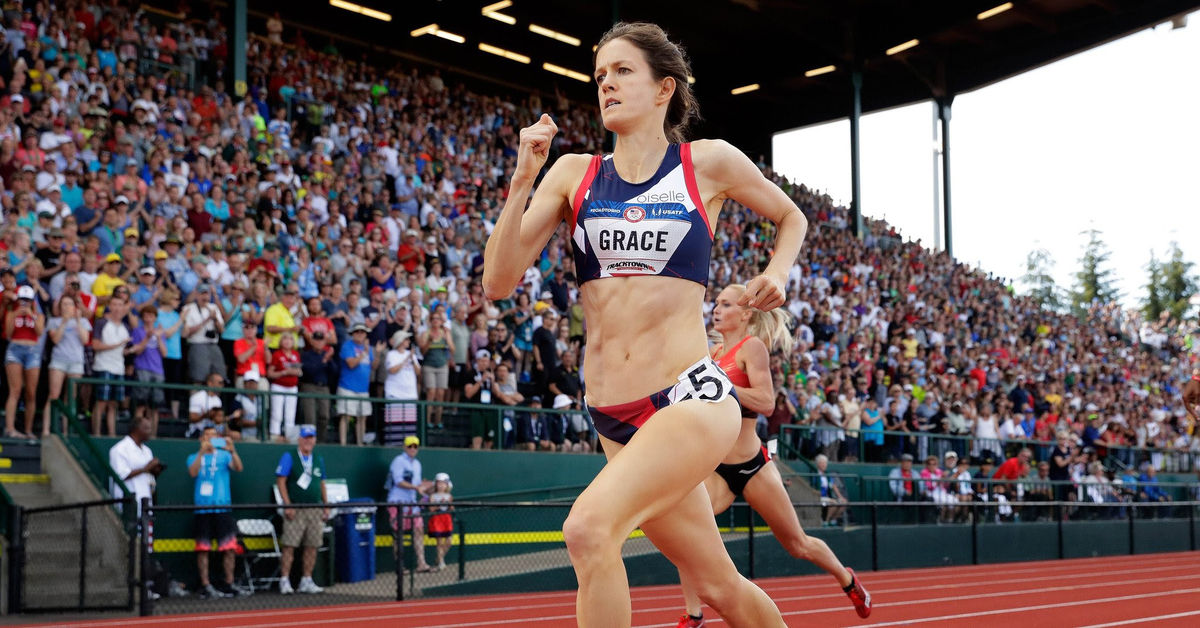 KATE GRACE '07 QUALIFIES FOR OLYMPICS IN 800 METER FINAL