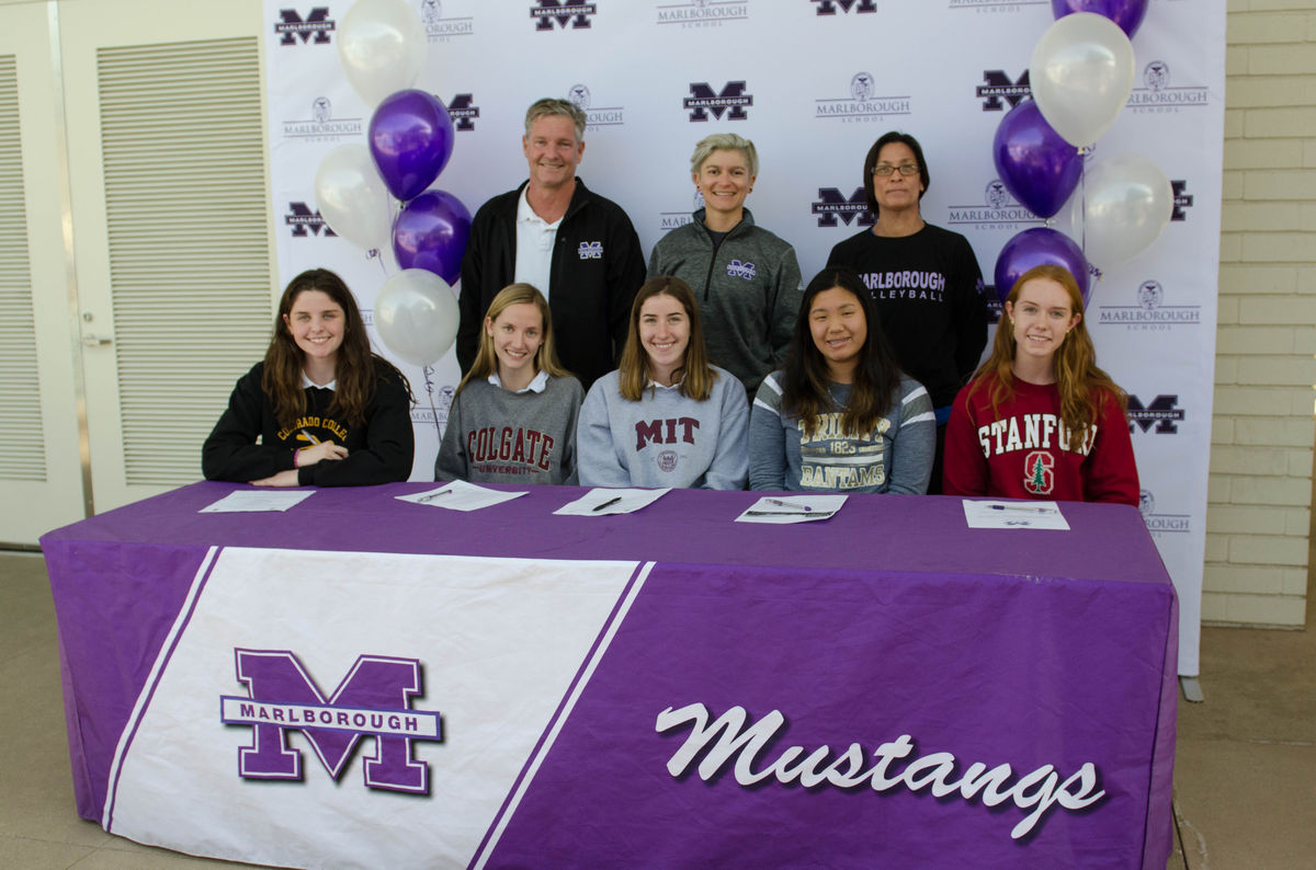 Marlborough Seniors Sign Letters of Intent for Collegiate Athletics