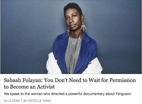 "Sabaah Folayan '09 Directs Documentary Film, ""Whose Streets?"""