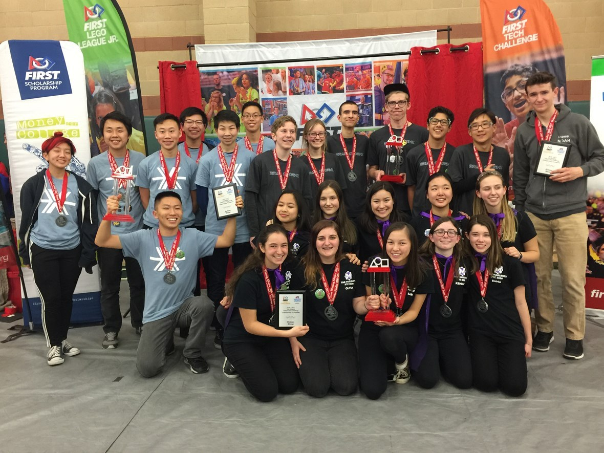 Marlbots Win Overall Robot Game at FTC Robotics LA Regional Championship Tournament