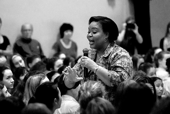 Leymah Gbowee, Nobel Peace Laureate, Visits Marlborough School