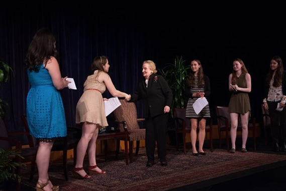 Madeleine Albright at Marlborough School
