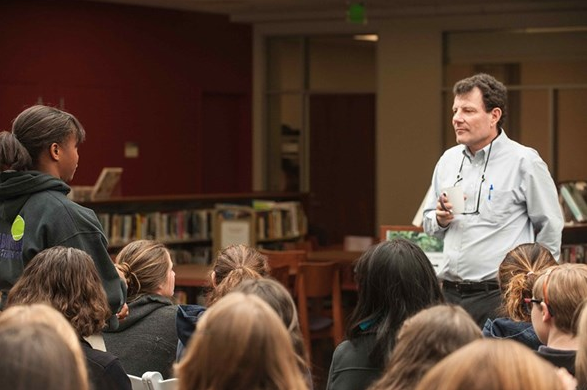 Nicholas Kristof Visits Marlborough School