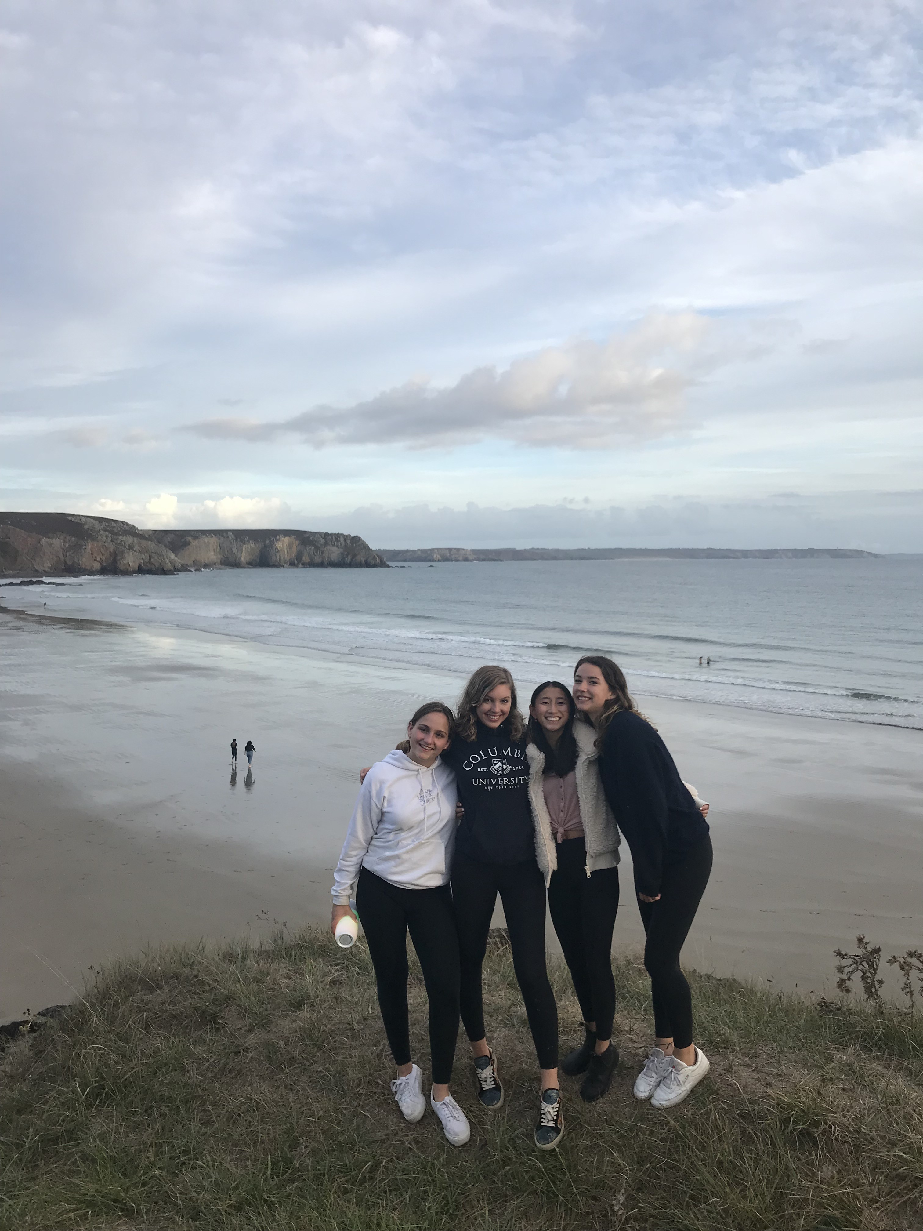 Maya with other School Year Abroad students at Cameret-Sur-Mer.